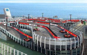 Race track on a Norwegian cruise ship