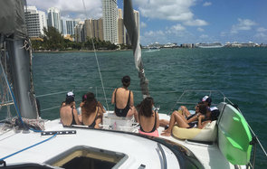 Women boating in Miami, Florida
