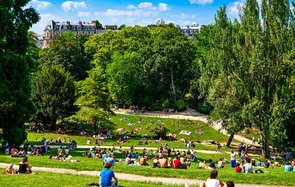 Buttes-Chaumont Park, Paris, France