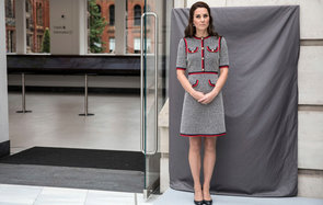 LONDON, ENGLAND - JUNE 29:  Catherine, Duchess of Cambridge unveils a plaque at the V&A museum to open the new multi million pound extension on June 29, 2017 in London, England.  The V&A Exhibition Road Quarter was designed by British Architect Amanda Lev