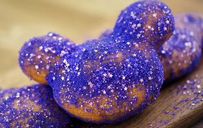 Disneyland Resort Fantasmic Limited Edition Glitter Mickey Beignets dining food