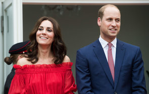 BERLIN, GERMANY - JULY 19:  Prince William, Duke of Cambridge and Catherine, Duchess of Cambridge attend The Queen's Birthday Party at the British Ambassadorial Residence on the first day of their visit to Germany on July 19, 2017 in Berlin, Germany. The