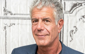 "NEW YORK, NY - NOVEMBER 02:  Anthony Bourdain visits the Build Series to discuss ""Raw Craft"" at AOL HQ on November 2, 2016 in New York City.  (Photo by Mike Pont/WireImage)"