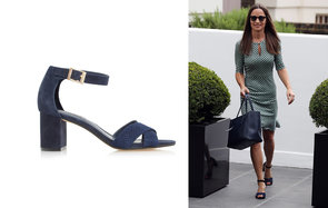 Pippa wearing Dune shoes