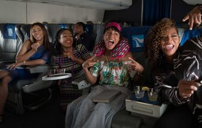 Girls Trip (2017 )Directed by Malcolm D. LeeShown from left: Regina Hall, Tiffany Haddish, Jada Pinkett Smith, Queen Latifah