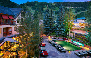 poolside at The Little Nell in Aspen, Colorado