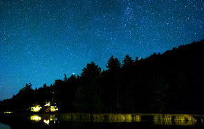 Starry sky at Acadia National Park in Maine