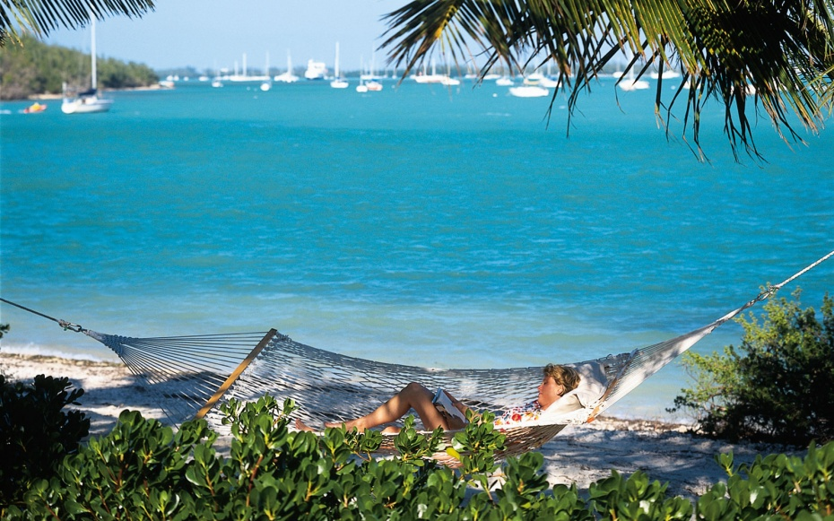 hammock in the beach at Sunset Key Guest Cottages, Key West, FL