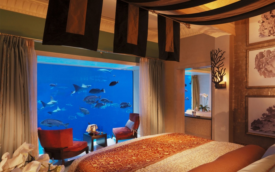 Hotel Underwater  the Neptune Suite at Atlantis  The Palm   Travel   Leisure. Hotel Underwater  the Neptune Suite at Atlantis  The Palm   Travel