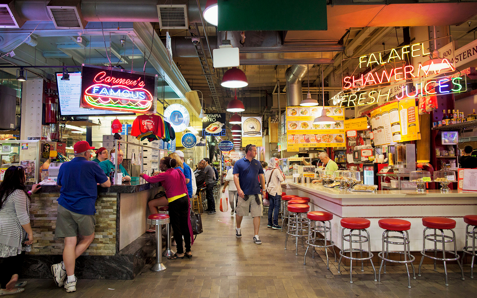 Reading terminal market attractions travel leisure for Fish market philadelphia