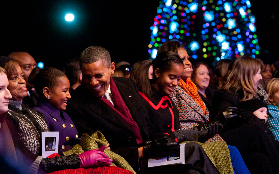 how many christmas trees in white house 2012