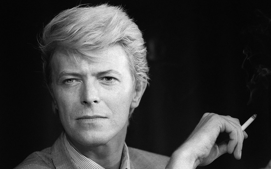 """A portrait taken on May 13, 1983 shows British singer David Bowie during a press conference at the 36th Cannes Film Festival. He is the main actor in Nagisa Oshima's film """"Furyo (Merry christmas Mr. Lawrence)"""", official selection in Cannes. He is also wit"""