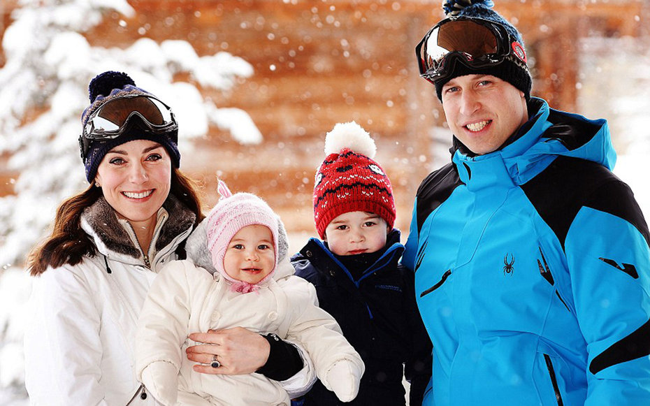 Royal Family Vacation Pictures