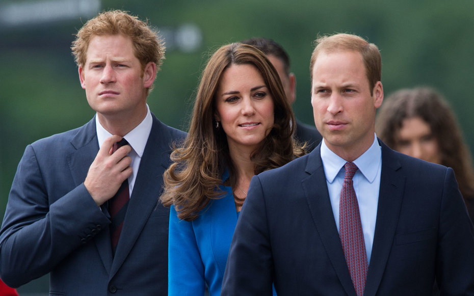 Prince Harry, Duchess Kate Middleton and Prince William