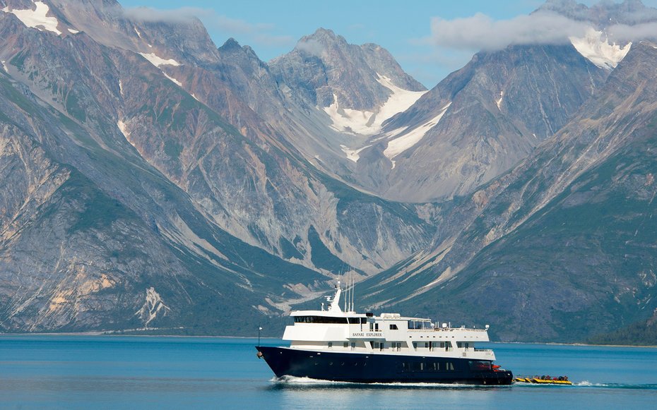 cruise ship in Glacier Bay National Park, Alaska