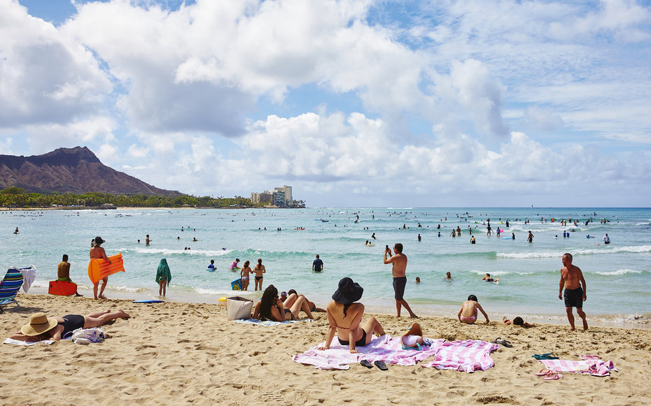 Waikiki Beach in Oahu