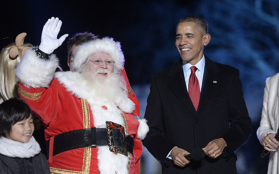 Obama at the 2015 tree lighting