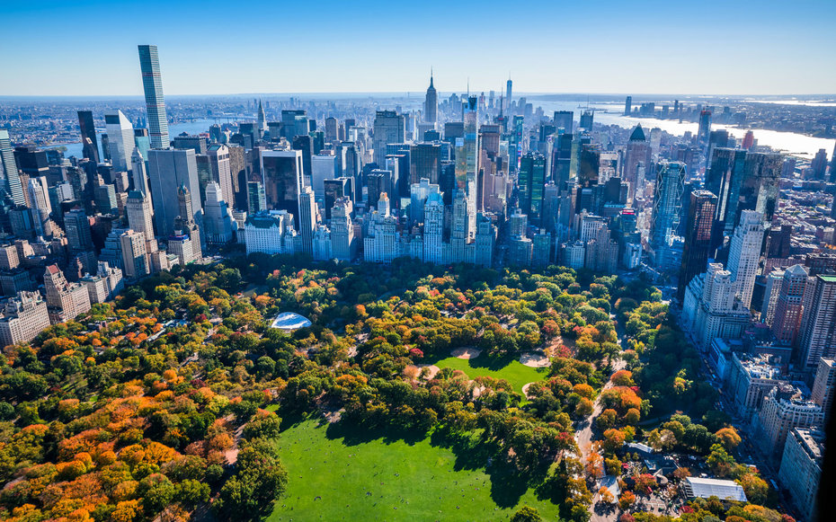 New York City's Central Park, one of the most Instagrammed places.