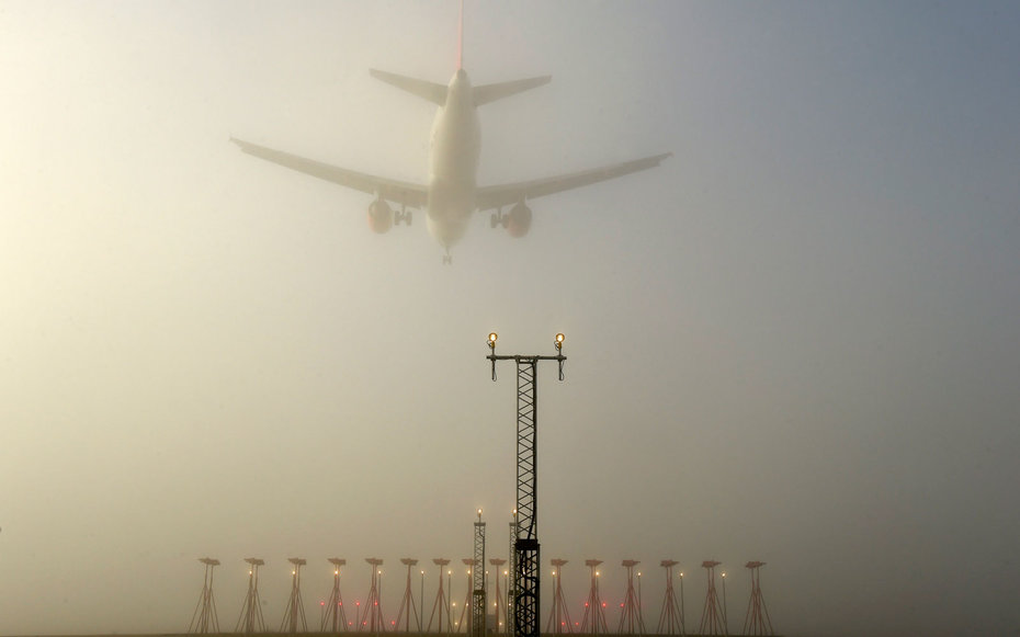 Freezing fog causes travel chaos as passengers face flight cancellations and delays