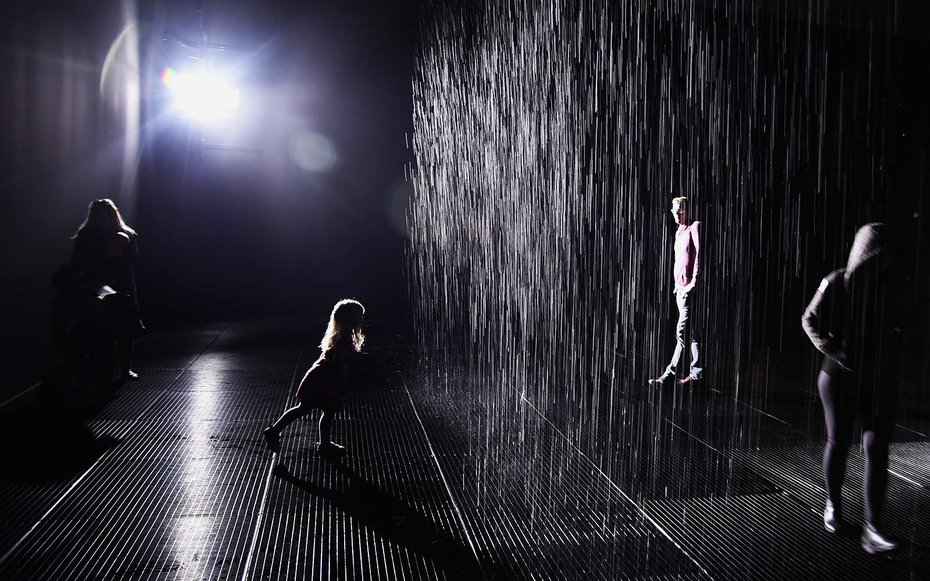 lacma is keeping the rain room forever travel leisure