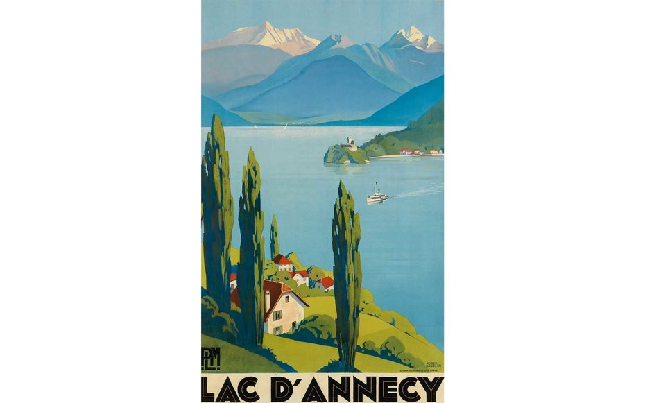 Картинки по запросу Courtesy of Swann Auction Galleries Lac D'Annecy The Lac d'Annecy is located in the Savoie region of France near Switzerland, and it has long been a popular summer vacation spot.