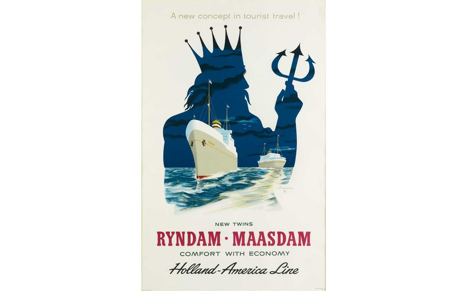 Картинки по запросу Courtesy of Swann Auction Galleries Ryndam Maasdam: Holland-America Line The starting bid for this cruise advertisement is $375.