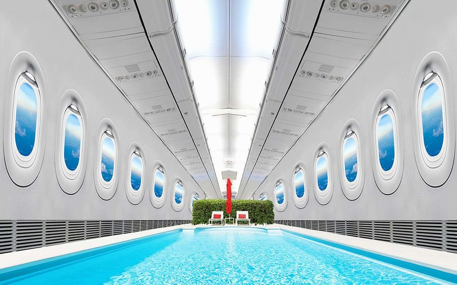 Emirates Wants To Build An Airplane With A Swimming Pool
