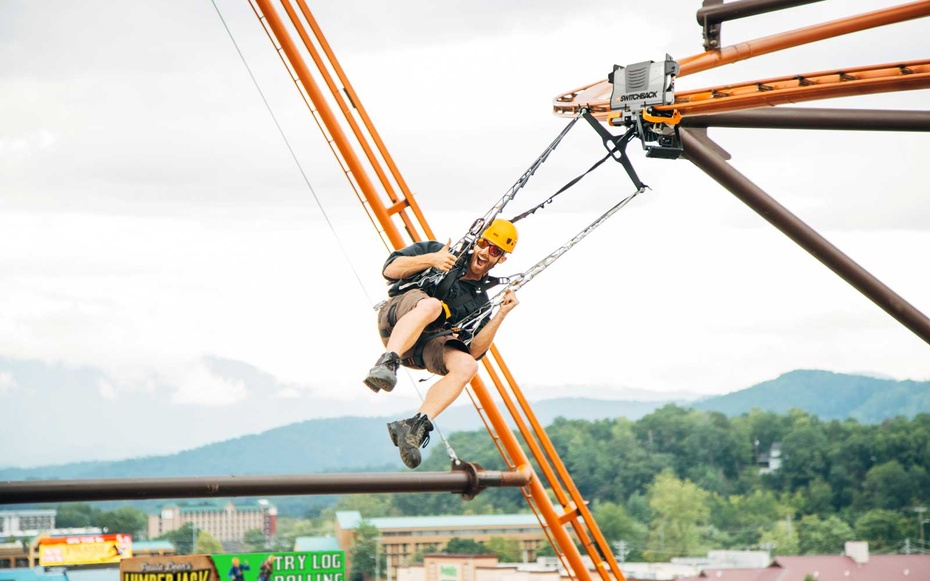 """A never-before-seen """"zipline roller coaster"""" just opened in Pigeon Forge"""