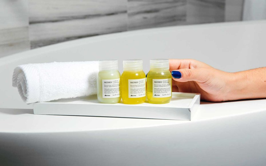 You can now get eco-friendly Davines products in your W hotel room