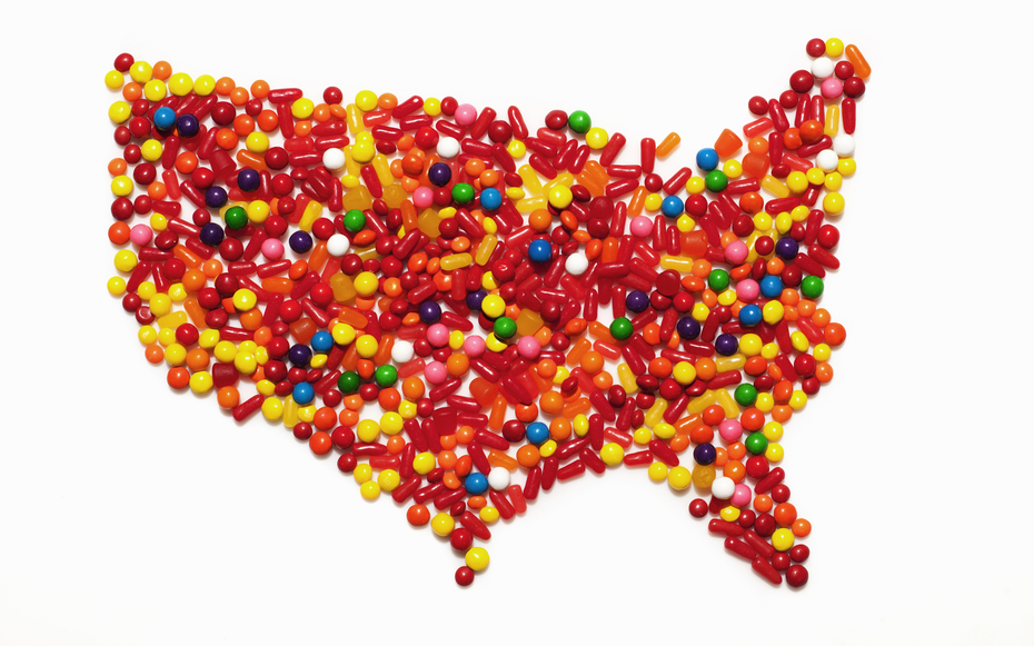Americas Favorite Halloween Candy According to Each State – Travel Map Of The United States