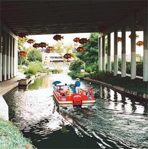 San Antonio, River Walk, Texas, canal