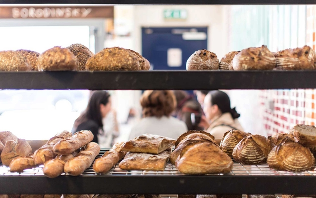 E5 Bakery in London, England, small shop