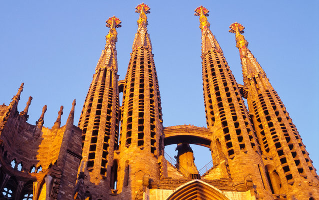 Basilica of the Sagrada Familia in Barcelona