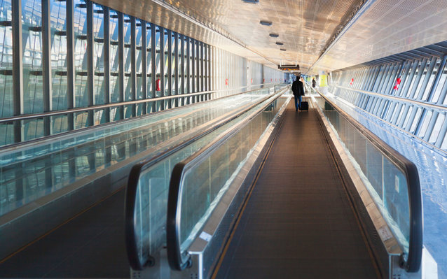 Airport Moving Walkway