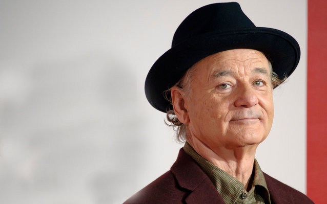 DT9W4T Bill Murray arrives for the UK Premiere of The Monuments Men at a central London cinema.