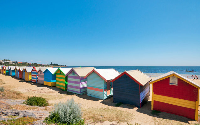 Brighton Beach in Melbourne
