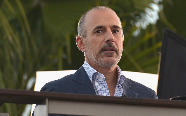 "ORLANDO, FL - NOVEMBER 17:  Matt Lauer appear on NBC's Today Show to release their new album ""Four"" at Universal City Walk At Universal Orlando on November 17, 2014 in Orlando, Florida.  (Photo by Olivia Salazar/FilmMagic)"