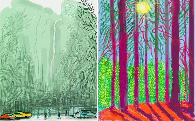 David Hockney ipad drawings