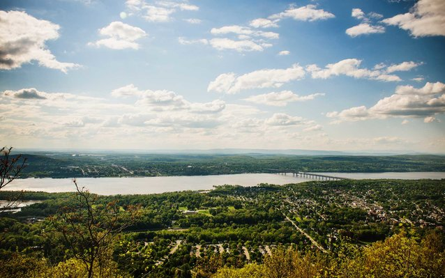 Beacon and the Hudson Valley from Beacon Mountain, Beacon, New York, United States, North America.