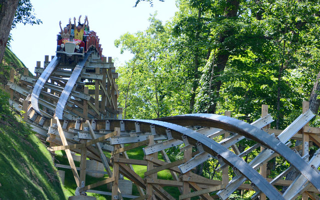 Dollywood roller coaster