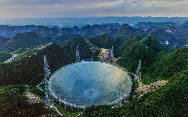 Spherical Telescope to detect aliens