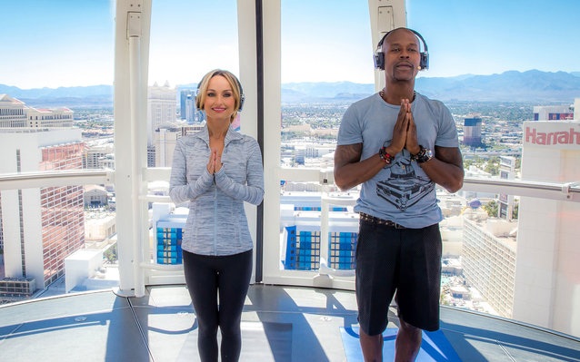 Giada De Laurentis Does Yoga on Las Vegas' High Roller