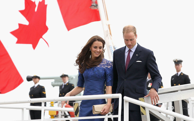 Will and Kate are visiting Canada.