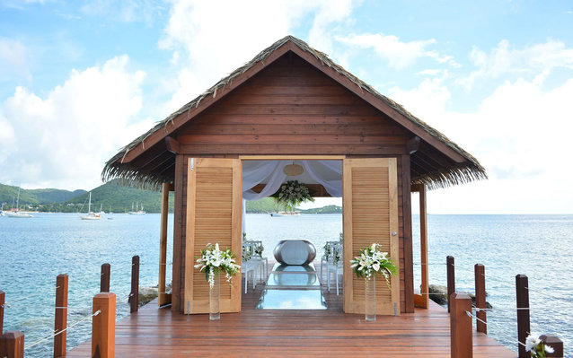 Sandals has opened an overwater chapel.