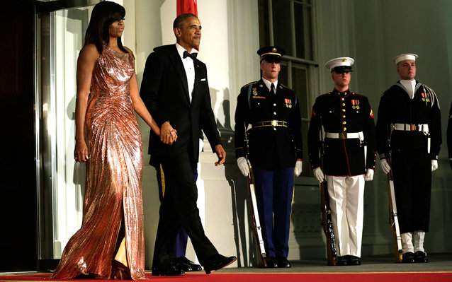 Michelle Obama in Versace at State Dinner