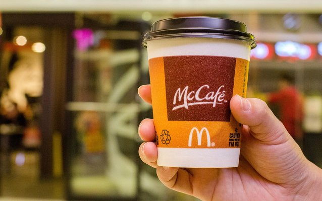 Canadian airline serving McDonald's coffee