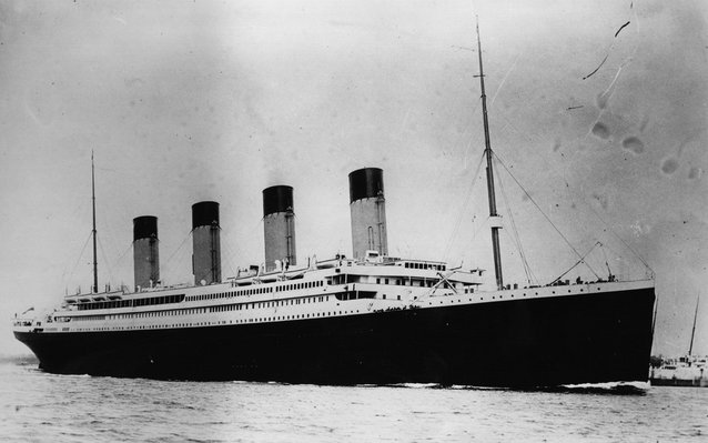 The Titanic, in 1912.