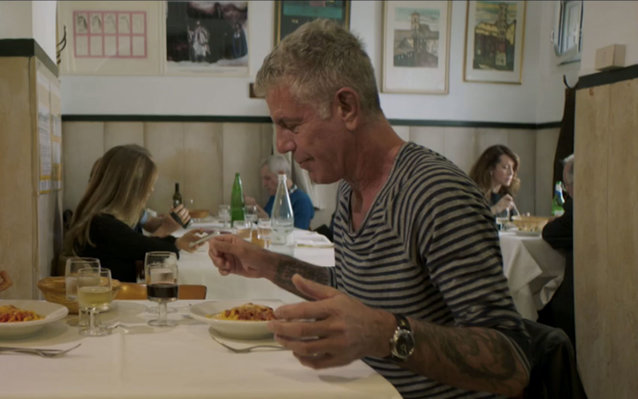 Anthony Bourdain in Rome.