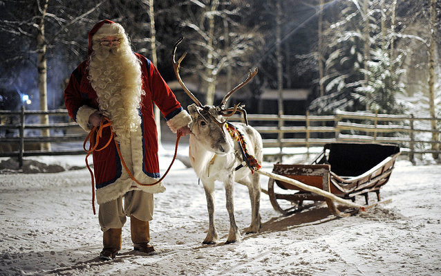 Kids can visit Santa at his 'office' in a snowy arctic village