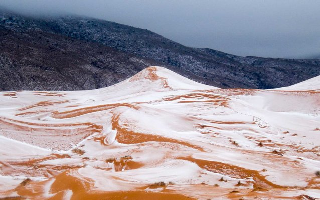 First Snow In Sahara Desert In 37 Years